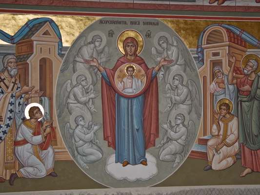 21st interior painting at putna monastery