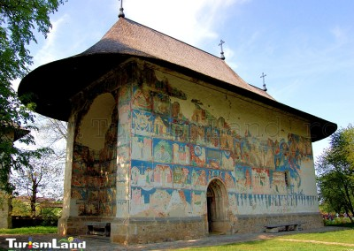 Arbore Church in Bucovina, Romania