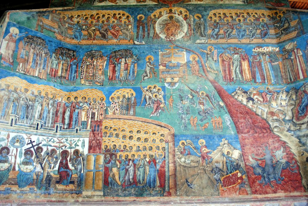 The Last Judgement Scene IN VORONET PAINTED MONASTERY