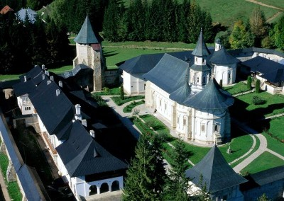 Putna Monastery Aerial View