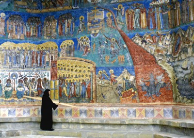 The Last Judgement Scene at Voronet Monastery Bucovina